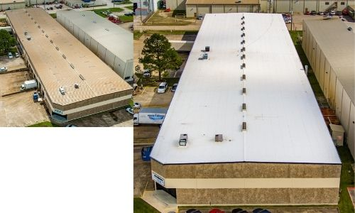tpo metal retrofit commercial roofer dallas texas